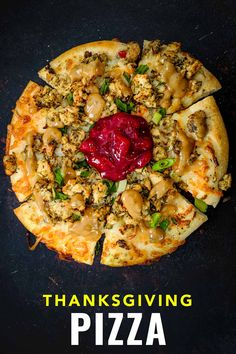 Turkey leftovers make delicious Christmas pizza and Thanksgiving pizza too! Leftover Pizza, Leftover Turkey, Christmas Pizza, Turkey Sandwiches, Holiday Traditions, Vegetable Pizza, Thanksgiving, Traditional, Food