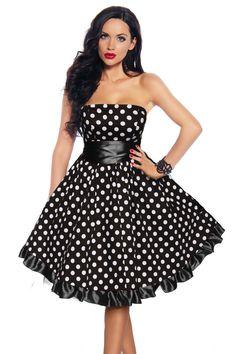 Rockabilly-Kleid 12655 schwarz/weiss 1
