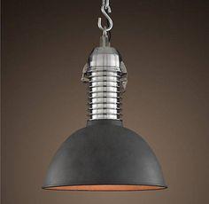 Vintage Industrial Lights . Industrial decor ideas