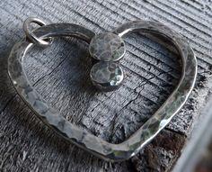 Handmade Jewellery. Sterling Silver Heart Pendant Modern Heart by maryannefountain, $40.00