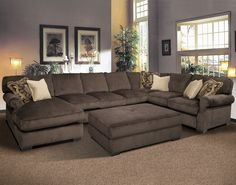 Grand Island Sleeper Sectional. Living Room