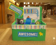 Lake Station-New Chicago branch's awesomebox is out and ready for your returns! Whenever you check out something and think it's awesome, return it here!