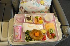 EVA Air Hello Kitty meal tray