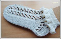 Lace Knitting, Knitting Socks, Knitting Patterns, Crochet Basket Pattern, Lace Socks, Circular Needles, Crochet Slippers, Ruffles, Leg Warmers