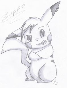 Zippo the Pikachu by Disney Drawings Sketches, Art Drawings Sketches Simple, Cute Disney Drawings, Cartoon Drawings, Cartoon Art, Cute Drawings, Naruto Drawings Easy, Pikachu Art, Pikachu Drawing Easy
