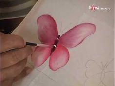 Pintura em Fraldas - Borboletas - YouTube