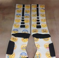 "Custom Nike Elite Socks ""Emojis"" · Sock Insanity · Online Store Powered by Storenvy"