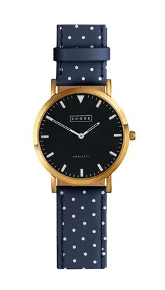 St Ives Watch With Ocean Blue Polka Strap
