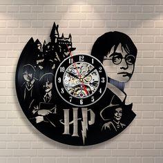 Uhren - Harry Potter Geschenk Zuhause Dekor Vinyl Wanduhr - ein Designerstück von TokTikdesign bei DaWanda