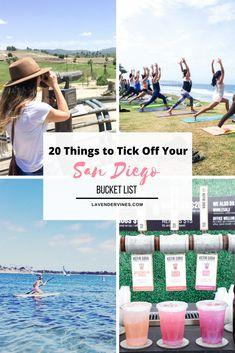 Things to do in San Diego | San Diego Bucket List | Petco Park | Surfing | Yoga | Paddleboarding | Seaport Village #sandiego #california #bucketlist