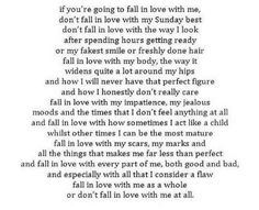 If you're going to fall in love with me...