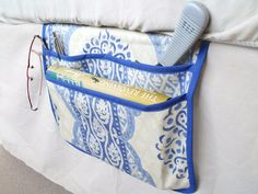 bed pocket bed caddy storage organizer bed by FingerPrickingGood