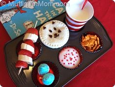 14 Dr. Seuss Craft & Treat Ideas - Things to Make and Do, Crafts and Activities for Kids - The Crafty Crow  What a cute rainy day lunch this would be!