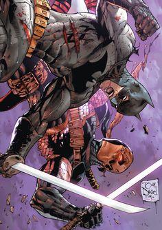 Batman vs Deathstroke by artist Tony S. Daniels