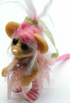 "polymere clay fairies | OOAK Handmade Polymer Clay Woodland Mouse Fairy ""Raspy"" Fantasy Art ..."