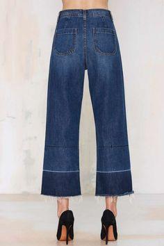 Nasty Gal Denim - Mad Crops Wide Leg Jean - Denim   Bottoms