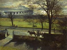 The Tay Bridge from My Studio Window - James McIntosh Patrick - Dundee Art Galleries and Museums Collection (Dundee City Council) Urban Landscape, Landscape Art, Landscape Paintings, Landscapes, Dundee City, Destinations, Glasgow School Of Art, Nature Artists, European Paintings