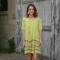 """JUNE & BEYOND BOUTIQUE on Instagram: """"Stand out in this chartreuse @ivy_jane_clothing dress! Don't forget tax free weekend starts today! Great time to get some back to school shopping done! #juneandbeyond #fallfashion #ivyjane #417 #boutiquefashion #ootd #fashion"""""""