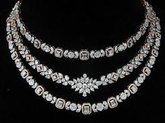 Three Step Necklace by Ansh Gems | Jivaana.com