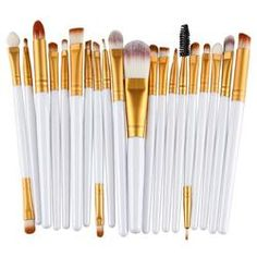 20pcs #Makeup #BrushSet: #Eyeshadow Blending #Brush #Powder #Foundation #Eyeshading Eyebrow Lip #Eyeliner