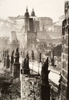 Zdenko Feyfar (Czech photographer, - Charles Bridge (Prague, Gelatin silver print The BARUCH Foundation Budapest, Fosse Commune, Prague Czech Republic, Austro Hungarian, Europe Photos, Architecture Old, City Photography, Eastern Europe, Bohemia