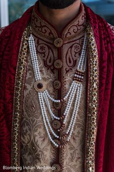 Indian groom in beautiful sherwani http://www.maharaniweddings.com/gallery/photo/81547