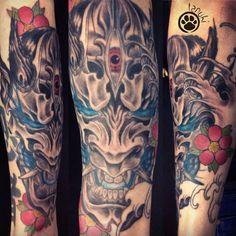 tatouage hannya réalisé par tanuki tattoo, à aix en provence, https://www.facebook.com/tanukifisherman/