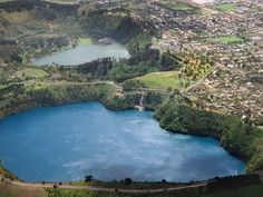 The blue lake, Mt Gambier.. South Australia - far richer blue than this but lovely photo anyway.
