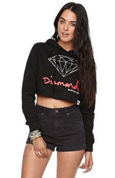 http://yrt.bigcartel.com Diamond Supply Co Diamond Cropped Fleece Hoodie #pacsun