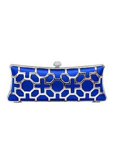 In Stock Luxury Blue Silk   Stainless Steel With Austrian Rhinestones Evening  Handbags   Clutches 29cbba9614ee