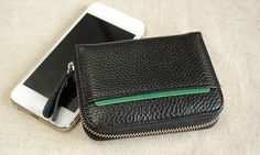 for Ladies Who Doesn't Like to Carry a Big Wallet Around Town.Clear Layout and Zipper Closure Design Is Made for You Easy Access to Cash and Credit Cards. Mens Waist Bag, Clutch Wallet, Zipper Pouch, Zip Around Wallet, Coins, Card Holder, Purses, Leather, Bags
