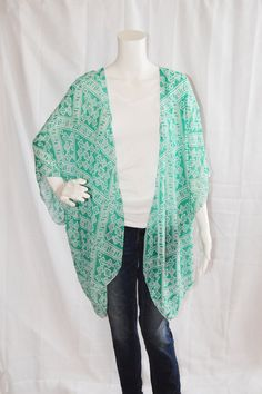 Tribal Kimono Cardigan/ Modern Kimono Jacket/ Lightweight Aztec ...