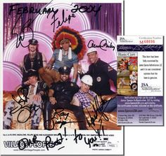 VILLAGE PEOPLE Hand Signed 8x10 - 6 Sigs - JSA COA - UACC RD #289 in Collectibles, Autographs, Music | eBay