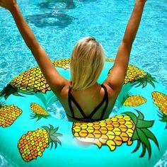 Flonuts Pineapple Inflatable Pool Float