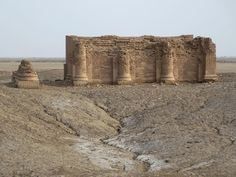 The Parthian Temple of the Gareus at Uruk (Warka), 39 km east of Samawah, Iraq, was built before 110 AD and is thus thousands of years younger than the surrounding Sumerian remains.