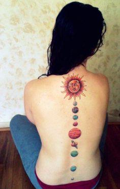 Planet Tattoo Design