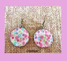 Boucles d'oreilles liberty rania rose 25mm : Boucles d'oreille par crocmyys