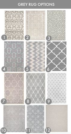 Grey Rug Options