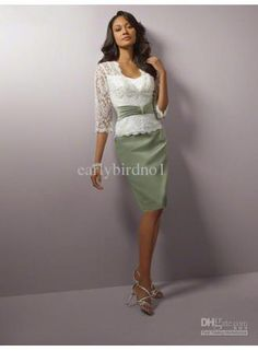 Customer Made!2011 New Arrival Sweetheart&Short Sleeve Knee Length Mother of Bride Dresses M5311