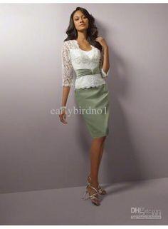 Customer Made!2011 New Arrival Sweetheart&Short Sleeve Knee Length Mother of Bride Dresses M5311