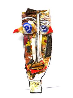 Ceramic mask Wall Mask Abstract ceramic Wall Art  3D by 99heads, $63.00