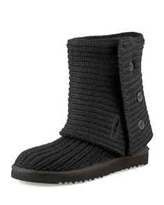 Crocheted+Classic+Shearling+Boot+by+UGG+at+Neiman+Marcus.