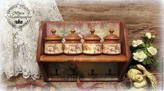 """Купить Набор кухонный """" Ежевика"""" - коричневый, набор для кухни, полочка для специй, полочка для кухни"""