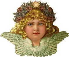 Victorian Christmas Angel Scrap