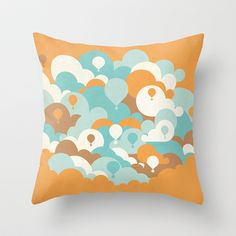 Up we go Throw Pillow by Lotecani - $20.00