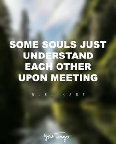 """Some souls just understand each other upon meeting."" — N.R. Hart"