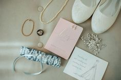 Wedding accessories ideas - vows, pink, classic, pearls, garter, something blue, shoes, jewelry, flats {Laura Mann} Wedding Day Jewelry, Wedding Accessories, On Your Wedding Day, Summer Wedding, Marco Island Beach, Road Photography, Leaf Flowers, Marry Me, Blue Shoes