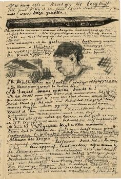 Autograph letter signed by Vincent Van Gogh, addressed to Anthon Van Rappard, dated March La Hague. Artist Van Gogh, Van Gogh Art, Art Van, Vincent Van Gogh, Van Gogh Drawings, Van Gogh Paintings, Desenhos Van Gogh, Theo Van Gogh, Van Gogh Pinturas