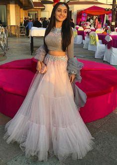 Latest Collection of Lehenga Choli Designs in the gallery. Lehenga Designs from India's Top Online Shopping Sites. Party Wear Indian Dresses, Indian Wedding Gowns, Designer Party Wear Dresses, Indian Fashion Dresses, Indian Bridal Outfits, Indian Gowns Dresses, Party Wear Lehenga, Dress Indian Style, Indian Designer Outfits