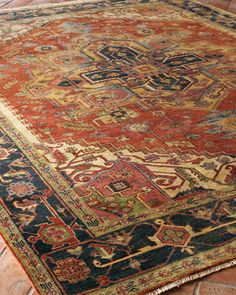 """Great colors. G """"Washed Serapi"""" Rug at Horchow."""